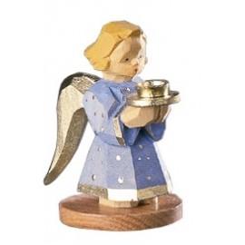 Engel als Kerzenhalter - blau