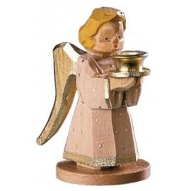 Engel als Kerzenhalter - natur, 7 cm