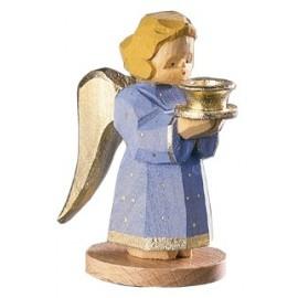 Engel als Kerzenhalter - Blau, 7 cm