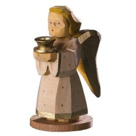 Engel als Kerzenhalter - natur, 9 cm