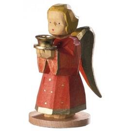 Engel als Kerzenhalter - Rot, 9 cm