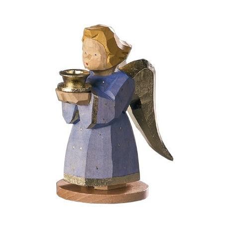 Engel als Kerzenhalter - Blau, 9 cm