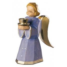 Engel als Kerzenhalter - Blau, 11 cm