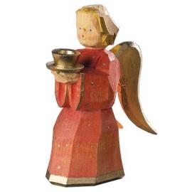 Engel als Kerzenhalter - Rot, 11 cm