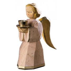 Engel als Kerzenhalter - natur, 11 cm