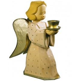 Engel als Kerzenhalter - natur, 30 cm