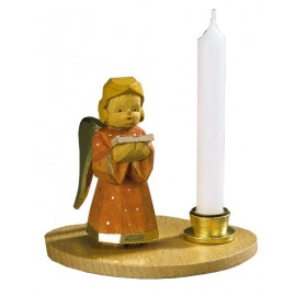 Engel mit Notenblatt / Kerzenhalter,Blau, Höhe 7 cm