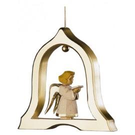 Engel mit Notenblatt in der Glocke